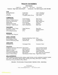 Child Actor Resume Template Free Inspirational Acting Format