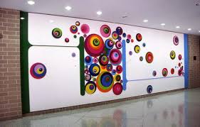 Small Picture Abstract Wall Murals Stickers for Kindergarten School Wall