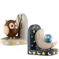 aynsley day night owl bookends