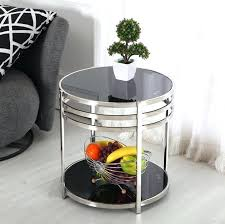 metal and glass side table stainless steel coffee table small table small double small round glass metal and glass side table