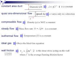 quasi one dimensional flow