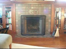 craftsman fireplace screen and fireplace