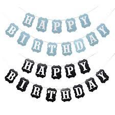 New Happy Birthday Bunting Banner Happy Birthday Banner Garland Flag Cartoon Letter Girl Boy Birthday Baby Shower Decoration
