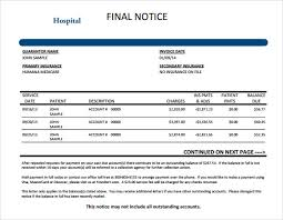 Medical Invoice Pdf Medical Invoice Template 8 Free Samples Examples Format