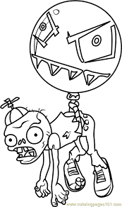 Small Picture Balloon Zombie Coloring Page Free Plants vs Zombies Coloring