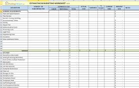 Budgeting Spreadsheet Free Free Estimating Software Building Remodeling