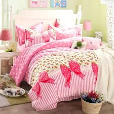 princess bowknot duvet cover bed sheets sets flannel girls bedding sets pink twin queen king size