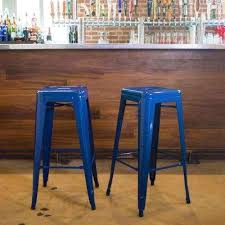 bar and bar stools. Stackable Metal Bar Stool In Blue (2-Piece) And Stools 1