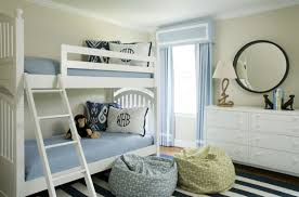 Kids Room: Blue Bedroom for Toddler Boy with White Furniture