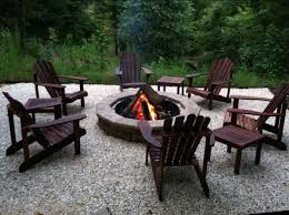fire pit and chairs. Interesting Pit Fire Pit With Adirondack Chairs On Pit And Chairs