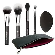 contour highlighter makeup brush set best 5 pc powder cream full face contouring brushes and