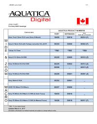 Aquatica Port Chart Aquatica A6300 Underwater Housing For Sony A6300