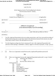 General Affidavit Example Cool Free Newfoundland And Labrador Affidavit Of ApplicantRespondent