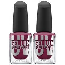 <b>DIVAGE</b> Набор: лак для ногтей <b>UV GEL</b> LUX тон 14 # бордовый ...