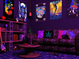 High Quality Diy Psychedelic Room Decor Black Light Room Ideas Uv Li On Bedroom Ideas  Wondrous Hippie For