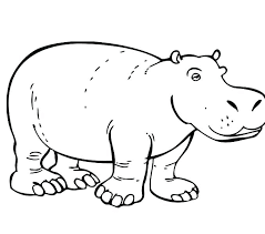 Hippo Animal Coloring Pages Coloring Pages Animals Zoo Animal
