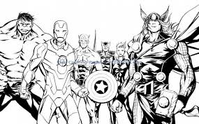 Get This Avengers Coloring Pages Boys Printable 41648