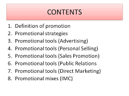 Promotional Strategies 1 Promotions Seminar 10 Contents 1 Definition Of Promotion