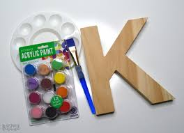 cute painted letter craft supplies