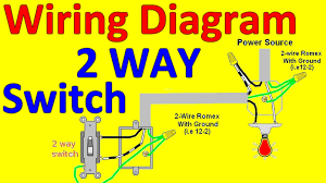 2 way light switch wiring diagrams youtube 2 way wiring diagram in singles at 2 Way Wiring Diagram