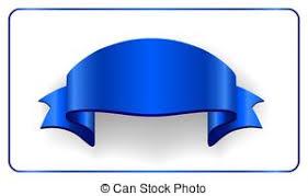 Blue Ribbon Design Blue Ribbon Banner Satin Blank Design Label Scroll Ribbon