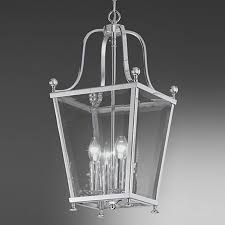franklite atrio small 4 light chrome lantern pendant ceiling fitting la7002