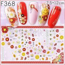 ヤフオク F368大判サイズ ネイルシール 花 フラワー 和柄