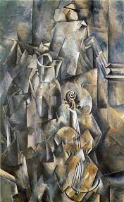 violin with pitcher 1909 10 117 x 73 cm georges braque