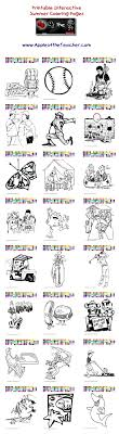 Printable Interactive Summer Coloring Pages Summer