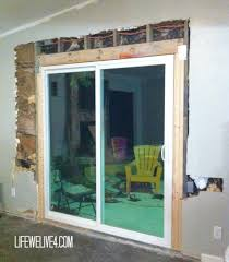diy install patio door in brick or limestone wall installing l replace sliding glass home depot installation cost repair replacement company vinyl doors