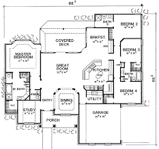 home office plan. Plan W3079D: Split Bedroom With Home Office W