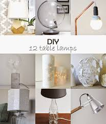 diy monday table lamps