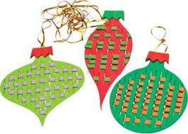 Large Weaving Foam Christmas Ornaments Kit of 24