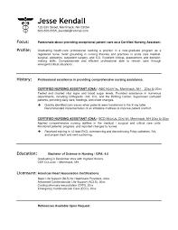 Sample Of Cna Resume Templates