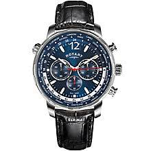 men s watches designer fashion watches h samuel rotary men s blue multi dial black leather strap watch product number 4606841