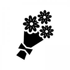 花束のシルエット02 無料のaipng白黒シルエットイラスト