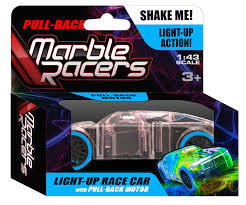 Light Up Marble Racer Pull Back Marble Racers Blue