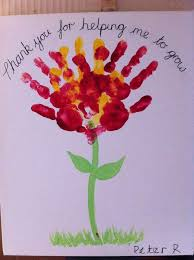 hand print flower card for teachers from our post 20 last minute handmade teacher s day card ideas at artsycraftsymom free printable and