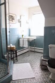 Blue Tiled Bathrooms Meet Me In Philadelphia Pre Holiday Spruce Up The Vintage Blue