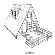 96 best floor plans images on pinterest small homes, small house Tiny House Plan Free free a frame house plan with a deck could be cool as a guest room tiny house plans free