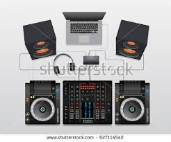 dj sound system setup diagram. dj mixing cdj set vector diagram sound system setup
