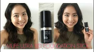 makeup forever ultra hd foundation stick first impression you