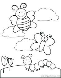 Free Coloring Pages For Toddlers Spring Coloring Sheets Printable