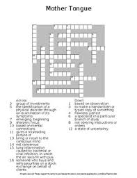 tongue by amy tan complete guided reading worksheet wordsearch  mother tongue by amy tan complete guided reading worksheet wordsearch crosswords