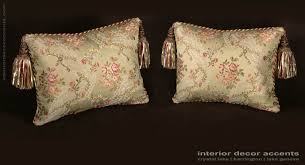 Elegant Home Decor Accents Custom Design Pillows Lee Jofa Silk Angelina Lampas in Willow 80