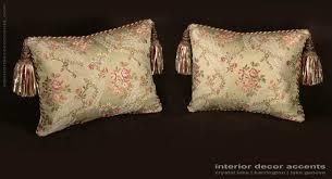 Elegant Home Decor Accents Custom Design Pillows Lee Jofa Silk Angelina Lampas in Willow 80