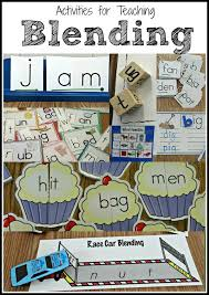 Activities for teaching students to blend words. Fun for centers ...