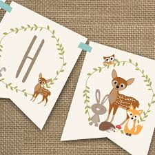 Baby Shower Banner Woodland Baby Shower Banner For A Boy Sunshine Parties