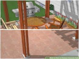 How To Paint An Outdoor Concrete Patio With Pictures WikiHow Awesome Paver Designs For Backyard Painting
