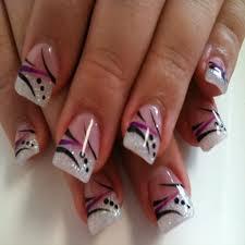 Beautiful Pink and Black Nail Polish Designs